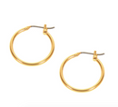 EARRINGS: SMALL CLASSIC HOOP (GOLD TONE)