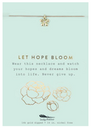 MESSAGE NECKLACE: LET HOPE BLOOM GOLD