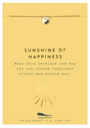 MESSAGE NECKLACE: SUNSHINE OF HAPPINESS GOLD