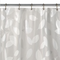 SHOWER CURTAIN: MODERN LEAF WHITE