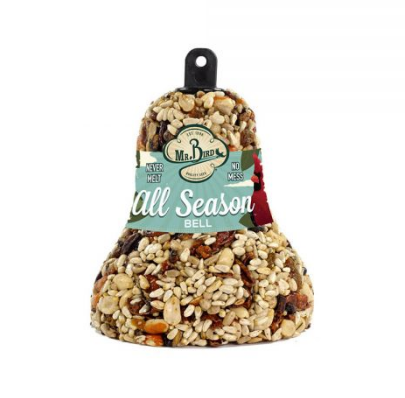 BIRDSEED BELL: ALL-SEASON, WITH HANGER
