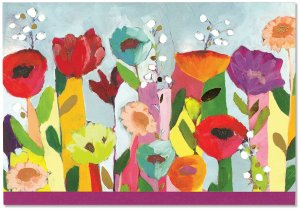 BOXED NOTECARDS BRILLIANT FLORAL
