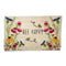 "DOORMAT, ""BEE HAPPY"" WILDFLOWERS"