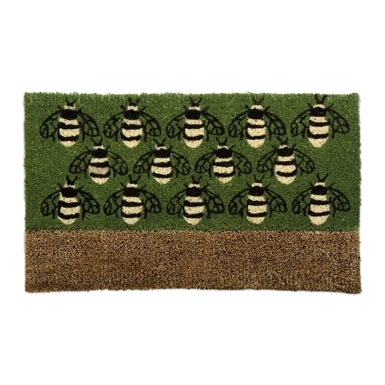 DOORMAT WITH SCRAPER, BUSY BEES