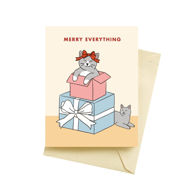 CARD MERRY KITTENS