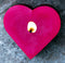 RED BEESWAX HEART VOTIVE