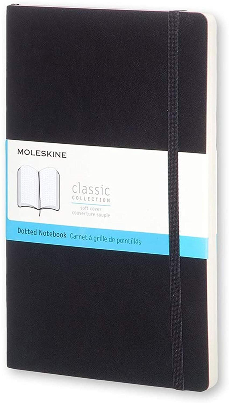 MOLESKINE JOURNAL DOTTED SOFT COVER BLACK