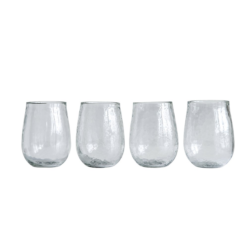 RECYCLED GLASS STEMLESS WINE