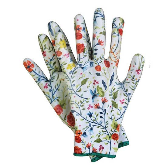 BIRDS OF PARADISE NITRILE WEEDER GARDENING GLOVES