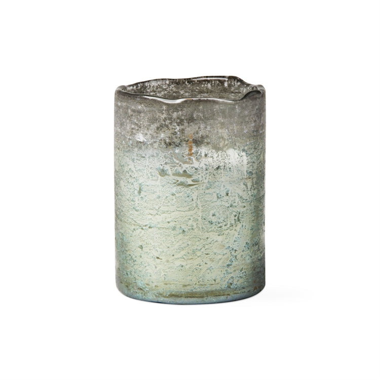 "ORGANIC EDGE GLASS CITRONELLA CANDLE 4"" EUCALYPTUS"