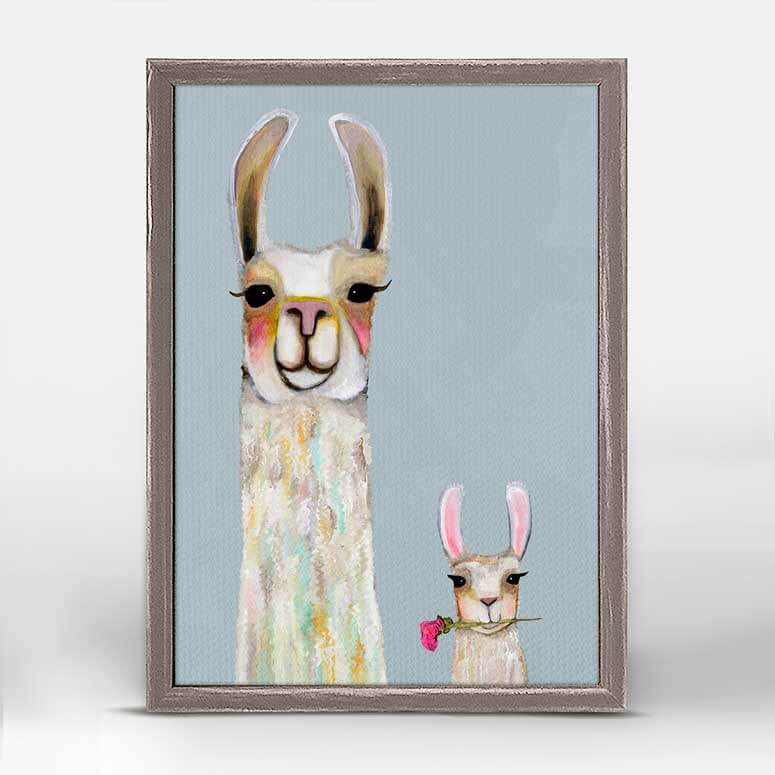 ART CANVAS 5X7IN LLAMA MAMA & BABY