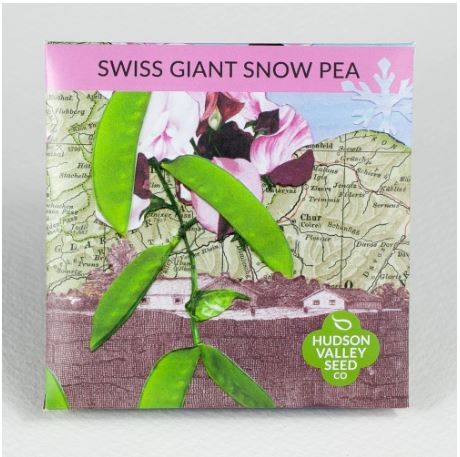 SEED PACKET SWISS GIANT SNOW PEA