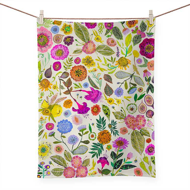TEA TOWEL WILDFLOWERS