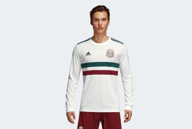 3c8382c8560 2018 World Cup Mexico Away White Long Sleeve Soccer Jersey – AztecJersey