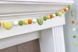 Lemon & Lime Felt Ball Garland- Yellow Green Orange