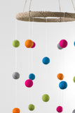 Bright Felt Ball Mobile