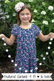 Alivia's Pink & Purple Felt Ball Garland