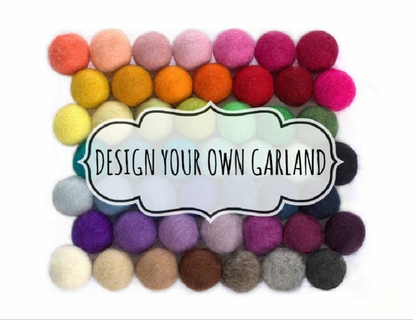 Design Your Own Felt Ball Garland