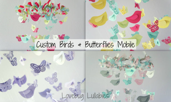 DESIGN Your Own BUTTERFLIES & BIRDS Mobile