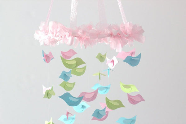 Birds Nursery Mobile- Nursery Decor; Nursery Bedding matching mobile