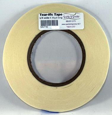 "1/4"" x 36 yds. Double Sided ""Tear-ific"" Tape, SAT16"