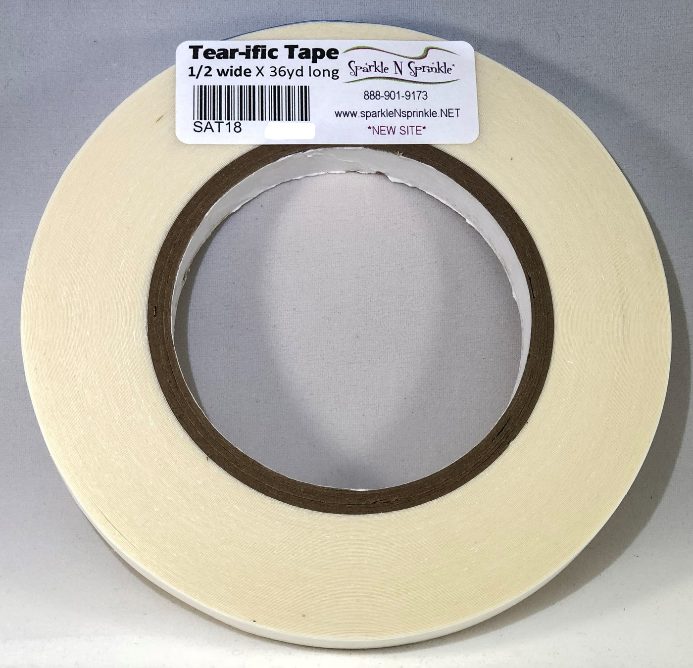 "1/2"" x 36 yds. Double Sided ""Tear-ific"" Tape, SAT18"