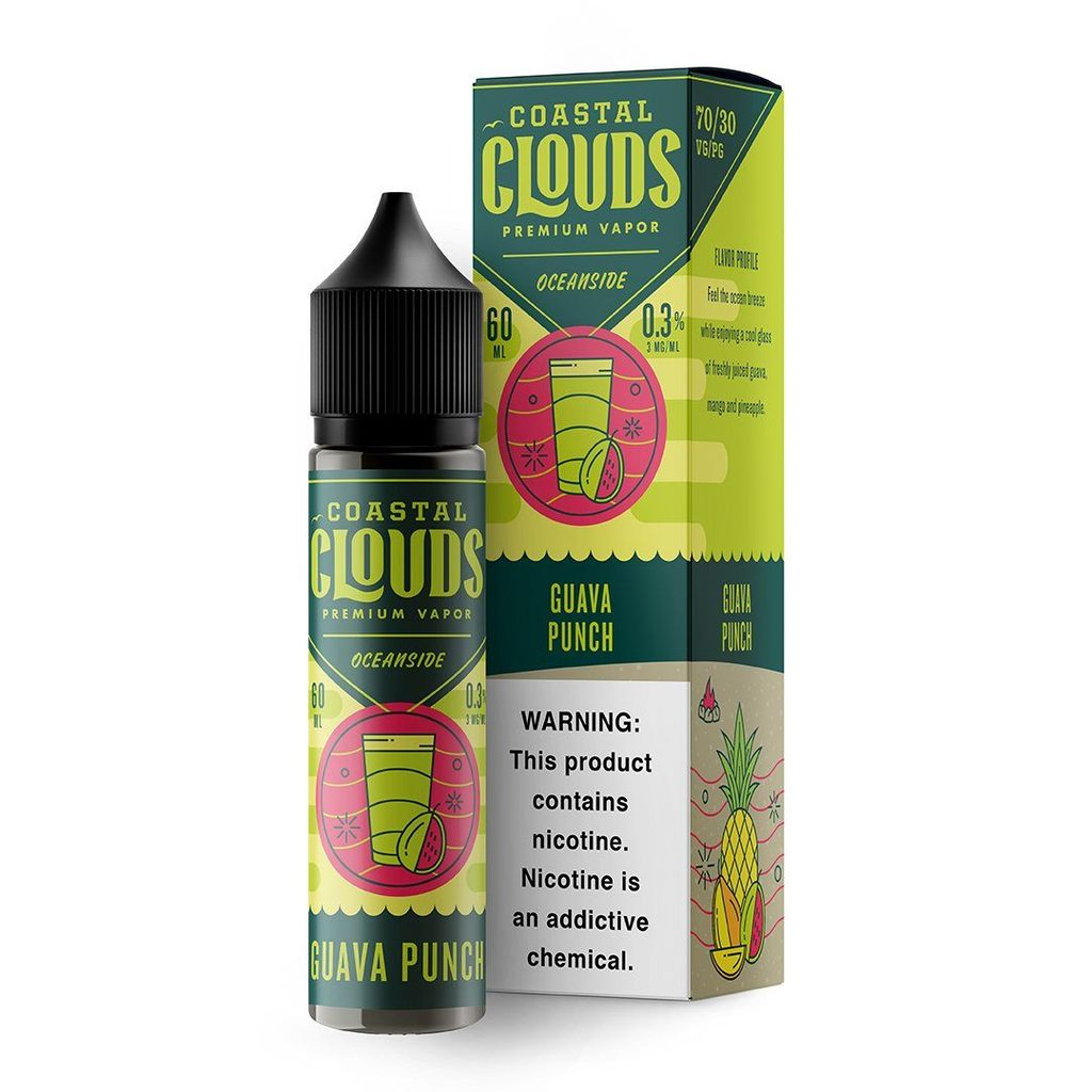 COASTAL CLOUDS - Oceanside Guava Punch 60ML eLiquid