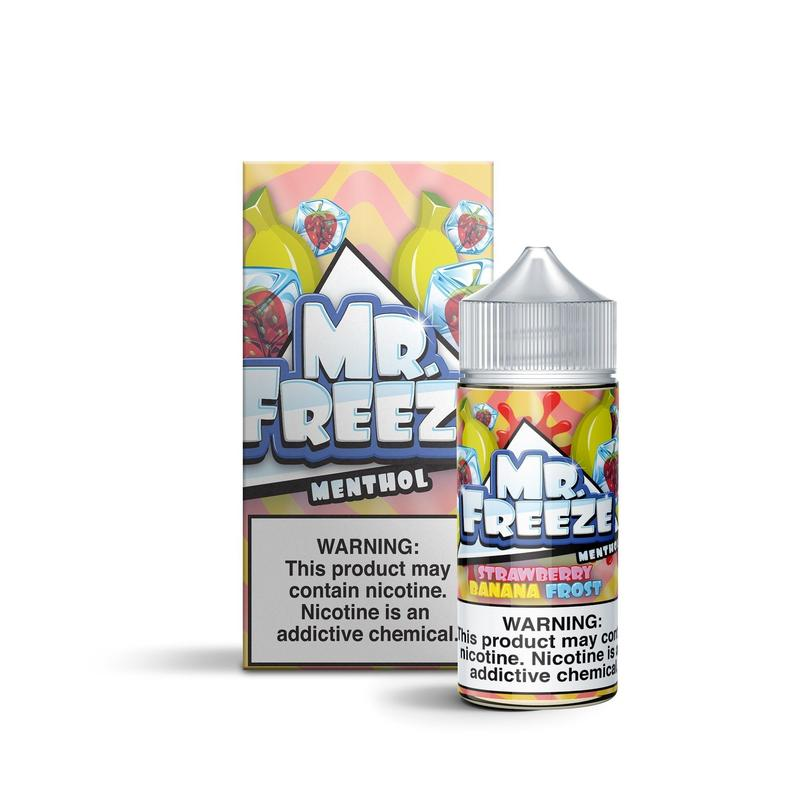 MR FREEZE MENTHOL - Strawberry Banana Frost 100ML eLiquid