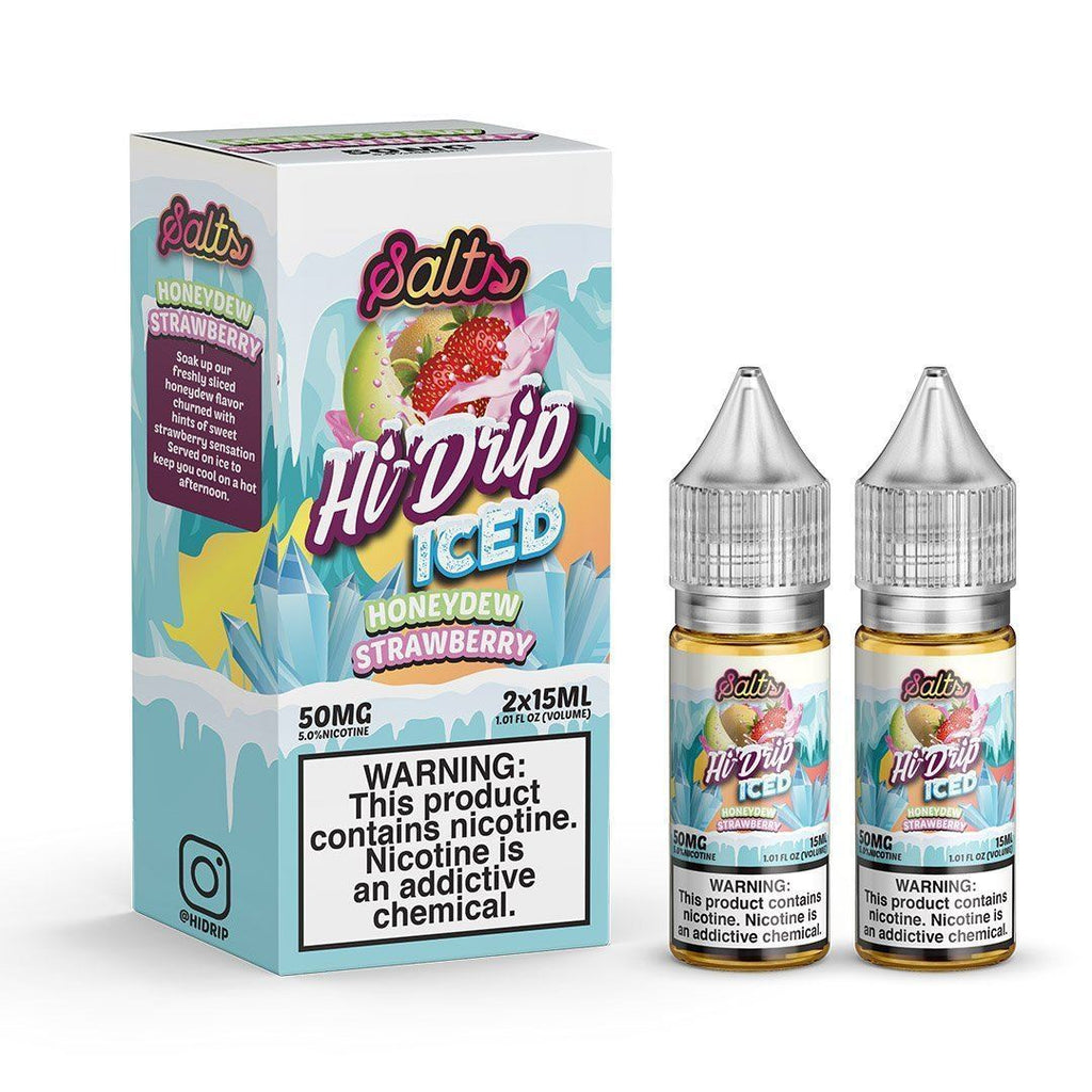 HI DRIP SALTS - Honeydew Strawberry Iced 2X15ML eLiquid