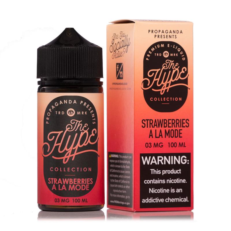 THE HYPE COLLECTION - Strawberries À La Mode 100ML eLiquid