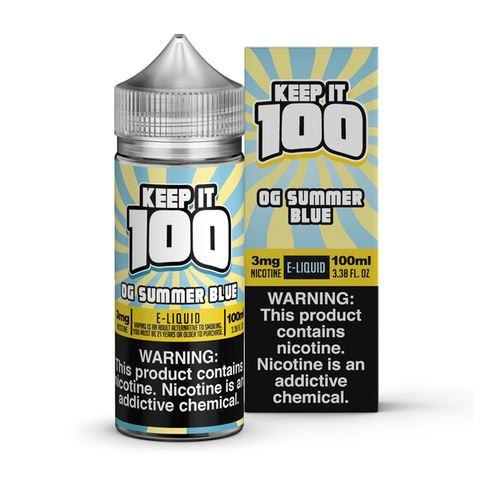 Keep It 100 - Blue Slushie Lemonade / OG Summer Blue 100ML eLiquid