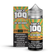 Load image into Gallery viewer, Keep It 100 - Peachy Punch / OG Orchard 100ML eLiquid