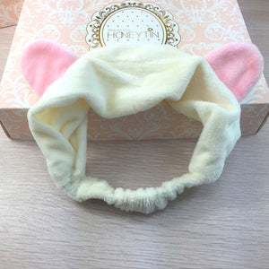 [Cat Ear] Bath Hairband, Aisuru 100%, beauty- Aisuru 100%