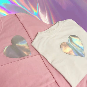 [Holo Heart] Long Sleeve, Aisuru 100%, kawaii- Aisuru 100%