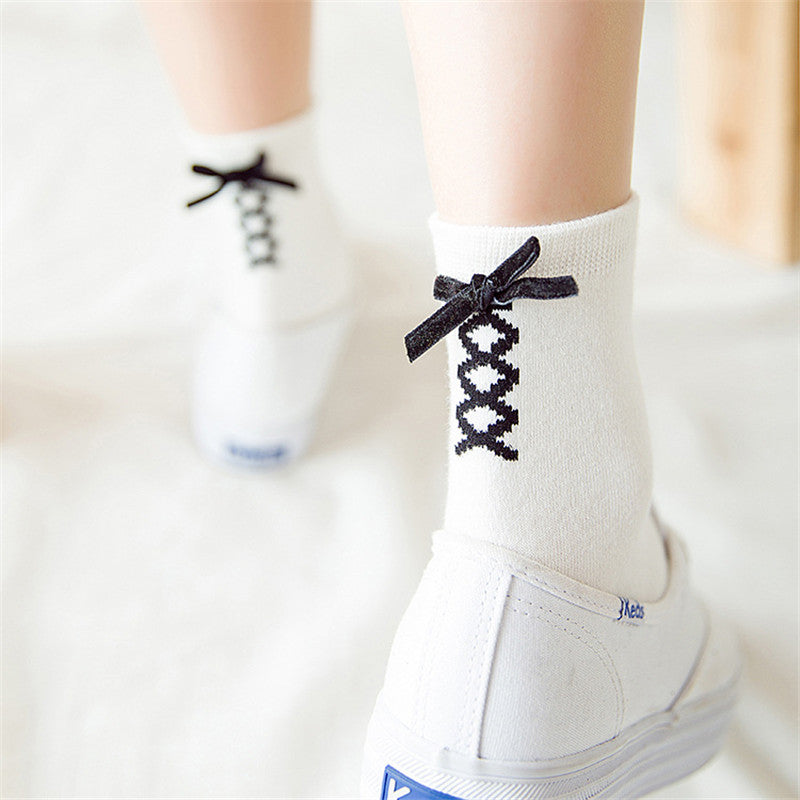 [Lace it up] Socks, Aisuru 100%, Clothing- Aisuru 100%