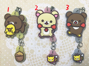 [Rilakkuma] Phone Charm set, Aisuru 100%, Collectible- Aisuru 100%