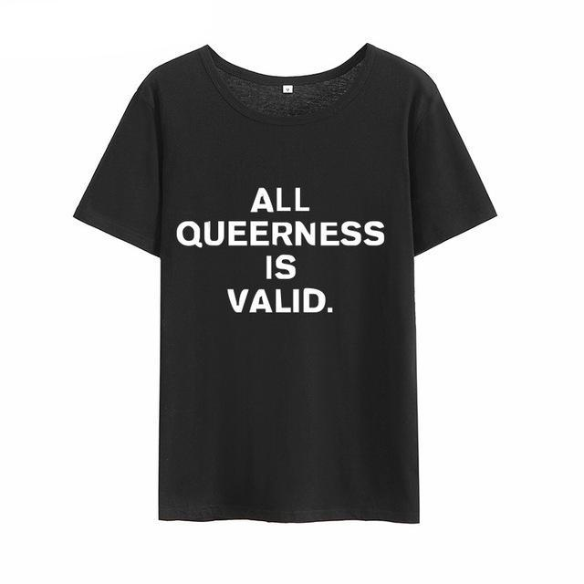 [All Queerness Is Valid] Shirt, Aisuru 100%, shirt- Aisuru 100%