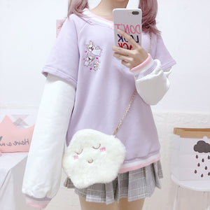 [Little Pup] Sweater, Aisuru 100%, kawaii clothes- Aisuru 100%