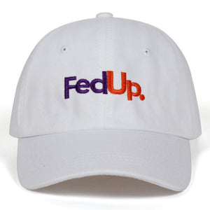 [100% FedUp] Embroidered Dad Hat, Aisuru 100%, hat- Aisuru 100%