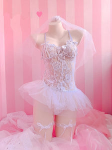 [Honeymoon Night] Cosplay Lingerie Chemise Set, Aisuru 100%, lingerie- Aisuru 100%