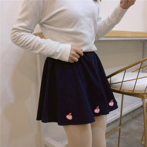 [Peachy Bottom] Pleated Skirt
