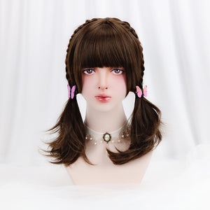 "[Amber Chocolate] 18"" Brown Wig"