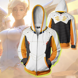 [Guardian Angel] Mercy Overwatch Cosplay Hoodie, Aisuru 100%, Hoodie- Aisuru 100%