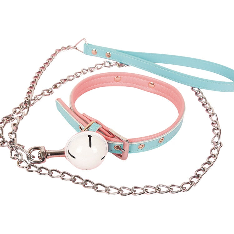 [Cotton Candy Dreams] Collar + Leash, Aisuru 100%, nsfw- Aisuru 100%