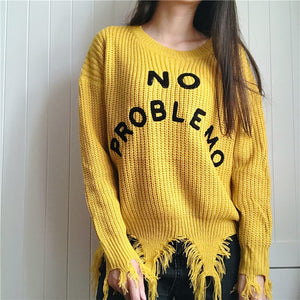 [No Problemo] Knitted Sweater