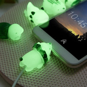 [Animal Attack!] Glow-in-the-Dark Cable Protectors, Aisuru 100%, cable protector- Aisuru 100%