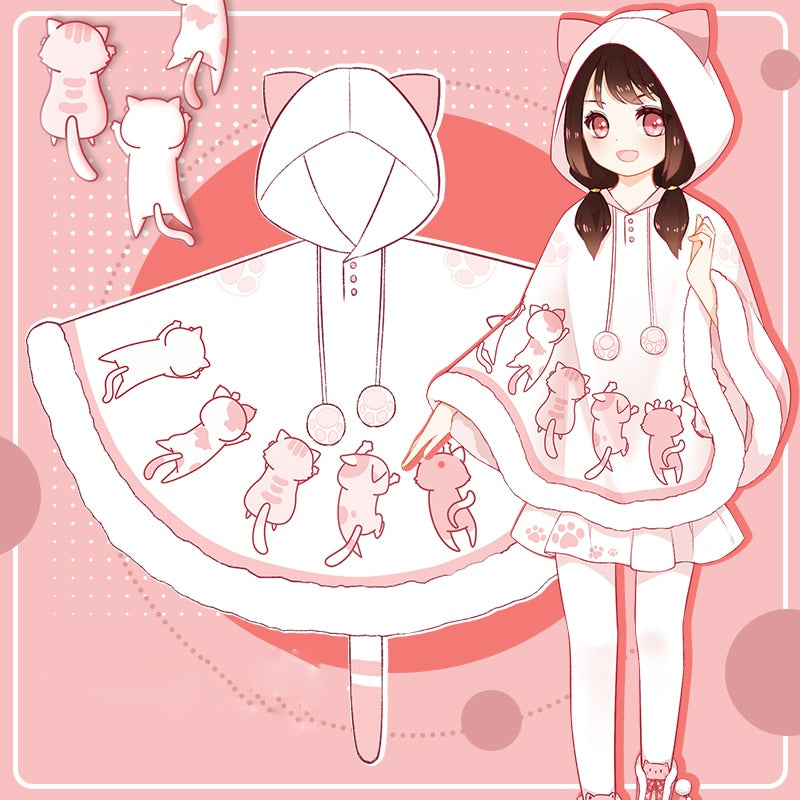 [Kitty Time] Kawaii Hooded Cat Cloak