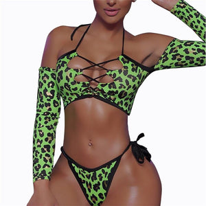 [Wild Ting] Long Sleeve Thong Bikini