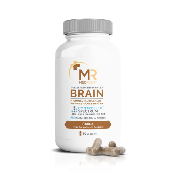 Brain (Memory & Focus) 840mg CBD+CBG+Terpene Two-Part Gel Capsules - 60 Count