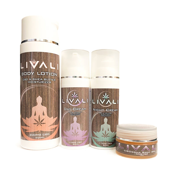 Livali CBD Women's Skin Care Bundle (4 Pack)
